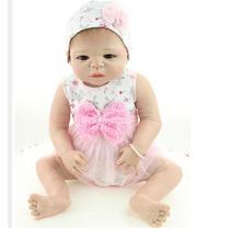 Boneca Reborn Bebê Corpo Inteiro Silicone 58cm Prontaentrega