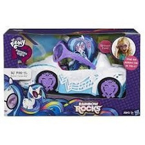 Kit My Little Pony Equestria Girls Dj Pon-3 + Carro Rainbow