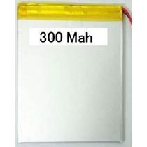 Bateria Para Mp3, Mp4, Mp5 E Outros 300 Mah 3,0cm X 2,3cm X