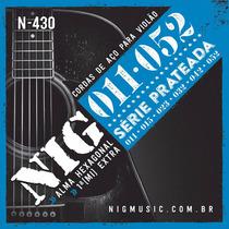 Cordas / Ecordoamento Nig Violão Aço N430 Prata .011 C/ Bol