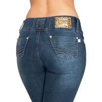 Calça Leg Jeans Gata Azul Modela No Corpo Bumbum Média 802