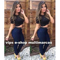 Calças Jeans Feminina, Cintura Alta, Hot Pants, Promoção,