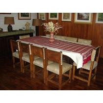 Mesa De Jantar Rústica 10 Cadeiras (encaixe)