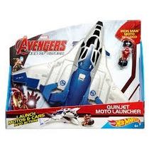 Pista Jato Hot Wheels Moto Lancador Vingadores Ccw95 Mattel