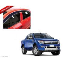 Calha Defletor Chuva Nova Ranger 4p Design Sport Inteiriça