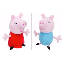 Irmãos Peppa E George Pig 30 Cm Em Pelúcia Pronta Entrega