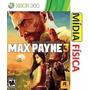 Box Max Payne 3 Em Português Lacrado Mídia Física Xbox 360