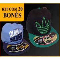 Kit Com 20 Bones Variados Aba Reta E Curva