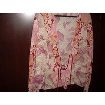Blusa Estampada Em Crepe - Rf31
