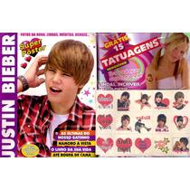 Revista Pôster Justin Bieber! = Com 15 Tatuagens Removíveis!