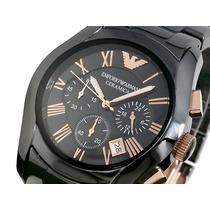 Relógio Empório Armani Ar1410 Ceramica Preto Completo