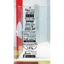 Adesivo Vidro Banheiro Box Música Ratinho Castelo Ratimbum