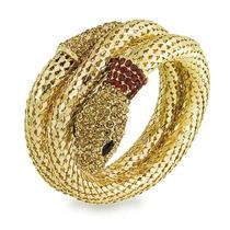 Envoltório Cobra Bracelete De Cristal Flexível Malha - Bli