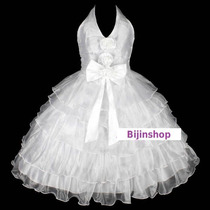 Vestido Infantil Festa/casamento/princesa Flores E Babados