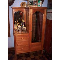 Antigo Guarda Roupa Para Barzinho Art Nouveau