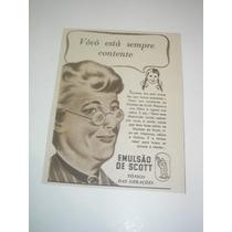 ( L - 290/ G ) Propaganda Antiga Emulsão De Scott