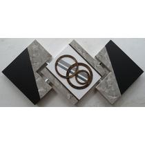 Quadros Abstratos Decorativos Tela Com Textura
