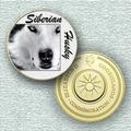 10701 - Siberian Husky - Banhada A Ouro 24 K - 40 Mm