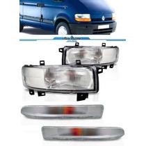 Kit Farol Master Renault 2003 A 2007 Com Piscas Cristais