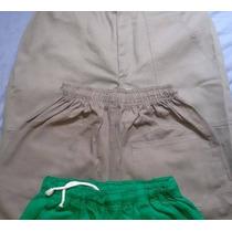 Calça Brim Elástico Uniforme Industrial (fabricação Própria)