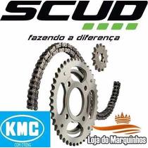 Kit Relação Ybr 125 2000 A 2002 Scud Kmc O