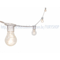 Varal De Luzes - Cordão Lâmpadas - Iluminação - 15m Branco