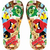 Chinelo Personalizado Angry Birds