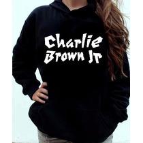 Moletom Charlie Brown Jr Canguru Com Capuz Unissex
