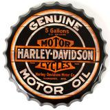 Placa-Decorativa-Tampa---Harley-davidson-Motor-Oil