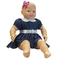 Boneca Bebezão Vestido Azul 3592 - Baby Brink