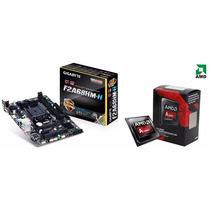 Kit Gigabyte Ga-f2a68hm-h Fm2+fm2 + Processador A8 7650k Amd