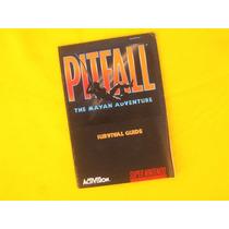 Manual Pitfall The Mayan Adventure - Snes - Original - 1994