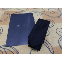 Gravata Zara Preta Com Riscas Brancas Nova Com Etiquetas