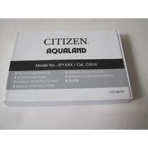 Manual Relógio Citizen Aqualand Jp1060 / Bj2040 / Jp2004
