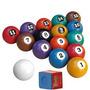 Jogo De Bola Numerada Para Sinuca Bilhar Snooker 54mm