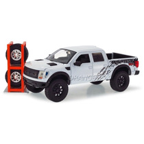 Ford F-150 Svt Raptor 2011 1:24 Jada Toys 54027-2-branco