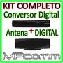 Kit Conversor Tv Digital Gravador ( H D )  + Antena Interna