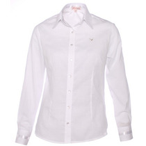 Camisa Social Camisete Branca Feminina Peace Pimenta Rosada