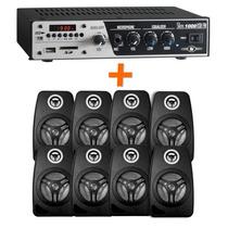 Kit Sonorização Ambiente Frahm Slim 1000+8 Caixas Orion 440w