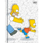 Kit C/ 4 Cadernos The Simpsons 200 Folhas 10 Materias Tilibr