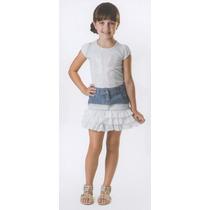 Trick Nick- Saia Jeans Infantil Com Bordado 118401