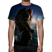 Camisa, Camiseta As Tartarugas Ninja Raphael Estampa Total