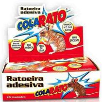 Raticida Adesiva Ratoeira Pega Rato Com 20 Armadilhas