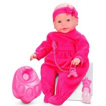 Boneca New Bebê Mania Pink - Xixi - Roma Brinquedos