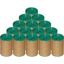 100 Cofrinhos De Papelão 6x10 - Tampa Verde - Frete Grátis