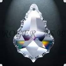 50 Cristais Asfour Placa Folha Bacalhau 3,8 Cm Para Lustres