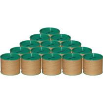 50 Cofrinhos De Papelão 6x6 - Tampa Verde