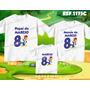 Lembrança De Aniversario Pica Pau Kit Camisetas C/ 3