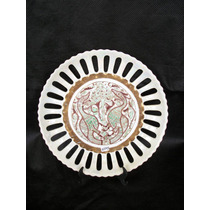 5545 Raríssimo Prato Fanestrado Schmidt Déc 60 Porcelana