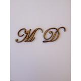 2 Letras Em Mdf Fonte Eduardian Script 3cm De Altura